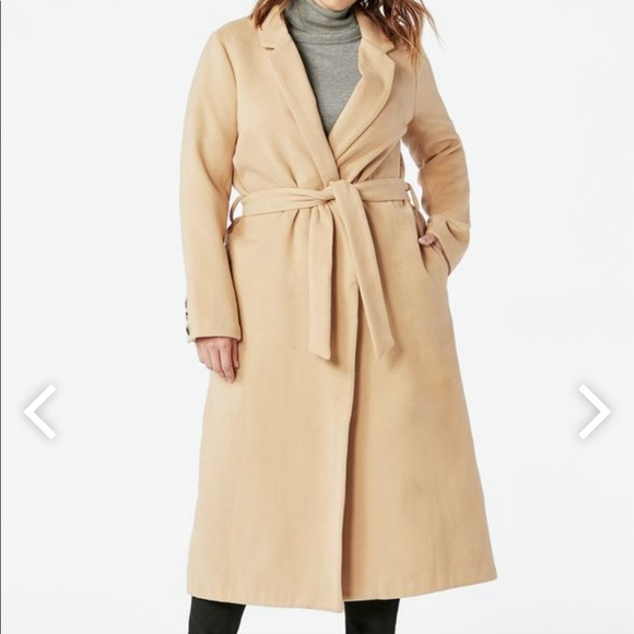 69e6e9969fc82 Plus size wrap coat from JustFab